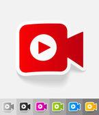 Realistic design element. video camera — Stock Vector