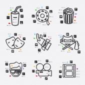 Cinema infographic illustration — Stock Vector