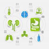 Medicine sticker infographic — Stock Vector