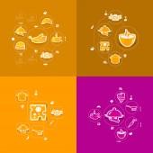 Restaurant sticker infographic — Stock Vector