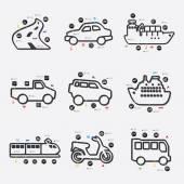 Transport infographic illustration — Stock Vector