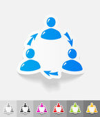 Realistic design element. interaction ikon — Stock Vector