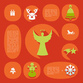 Christmas flat infographic illustration — Stock Vector