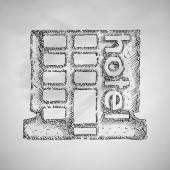 Hotel icon design — Stock Vector