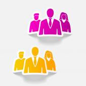 Realistic business people — Stock Vector