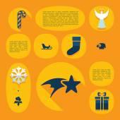 Weihnachten-flach-Infographik — Stockvektor