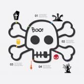 Halloween infographic illustration. — Stock Vector