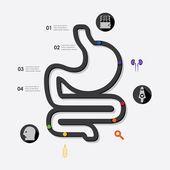 Ilustración Infográfica de medicina. — Vector de stock