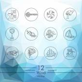 Set of wind icons — Stock Vector