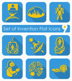 Set of invention icons — Stock Vector
