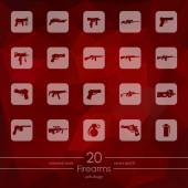 Set of firearms icons — Stock Vector
