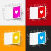 Playing card icon — Stock Vector