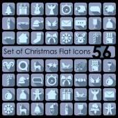 Kerst iconen set — Stockvector