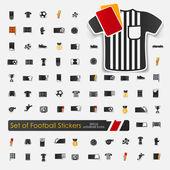 Набор наклеек для футбола — Cтоковый вектор