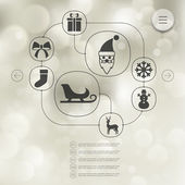 Christmas infographic icons — Stock Vector