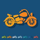 Platte ontwerp: motorfiets — Stockvector