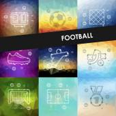 Football timeline infographics — Stock Vector