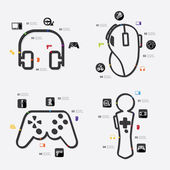 Game infographic icons — Stock Vector