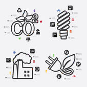 Ecology infographic icons — Stock Vector