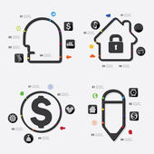 Business infographic icons — Stock Vector