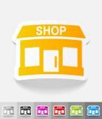 Shop-Papier-Aufkleber — Stockvektor