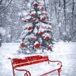 Winter Christmas background. Scene with red element. Concept gra — Stock Photo #54568487