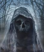 The angel of death. Demon of darkness. Photomanipulation. — Stock Photo