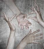 Grunge hand design. — Stock Photo