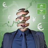 Only money in the head — Stock Photo