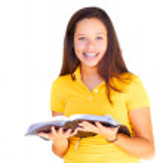 Teenage Girl Reading Bible — Stock Photo #61117769