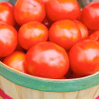Red tomatoes in basket — Stock Photo #61117867