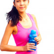 Woman holding water bottle — Stock Photo #61119147