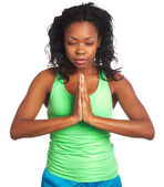 African-American female yogi — Stock Photo