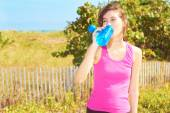 Young Woman Hydrating — Stock Photo