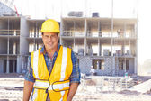 Happy Building Contractor — Stock Photo