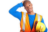 African-American construction worker — Stockfoto