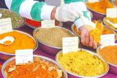 Trader Selling Tamarind Powder — Stock Photo