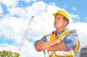Serious Building Contractor — Stock Photo