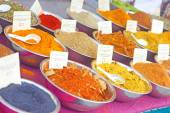 Different Spices For Sale — Stock Photo