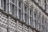 Detail of the city hall in Lubeck — Stock Photo
