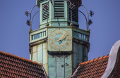 Detail of a church at the koberg square in Lubeck — Stock Photo