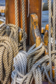 Ropes on a ship in Lubeck — Stock Photo
