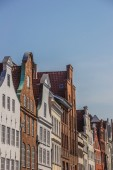 Old gables in the historic center of Lubeck — Stock Photo