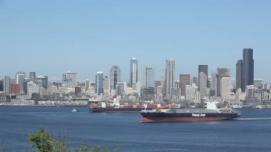Seattle Container Ships — Stock Video