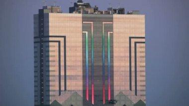 Skyscraper Lightshow — Stock Video