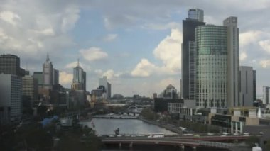 Timelapse Melbourne Yarra River — Stock Video