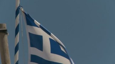 National Flag of Greece — Stock Video