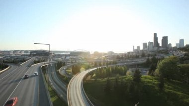 Seattle  Interstate Traffic — Stock Video