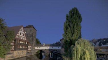 Timelapse Nurnberg Charles bridge — Stock Video