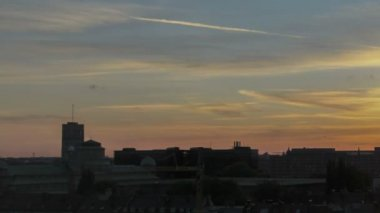 Timelapse Munich Skyline Sunset — Stock Video